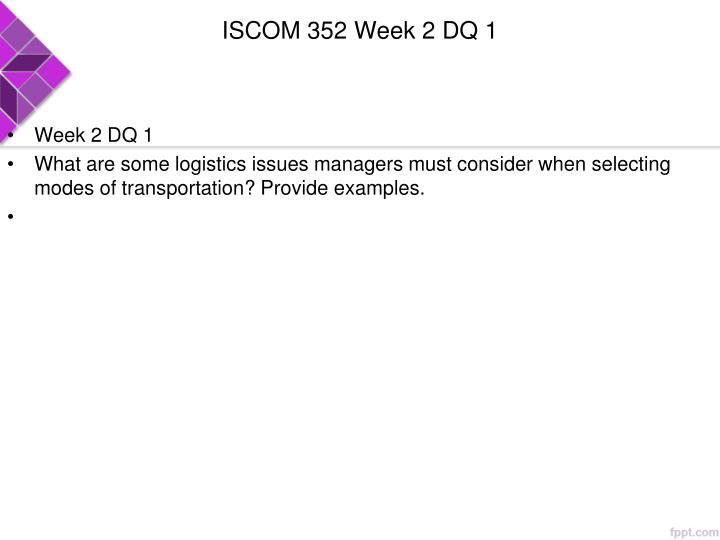 ISCOM 352 Week 2 DQ 1