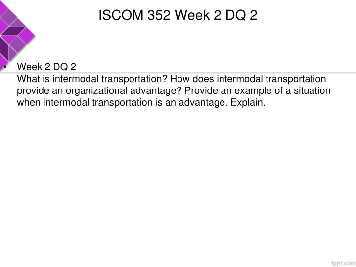 ISCOM 352 Week 2 DQ 2