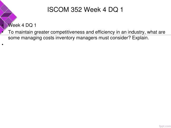 ISCOM 352 Week 4 DQ 1