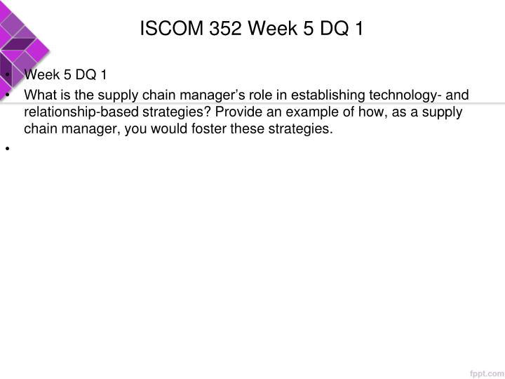 ISCOM 352 Week 5 DQ 1