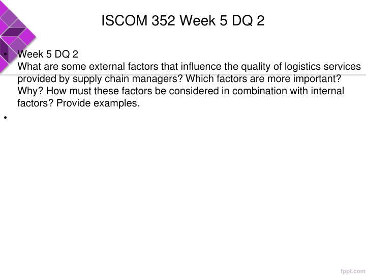 ISCOM 352 Week 5 DQ 2