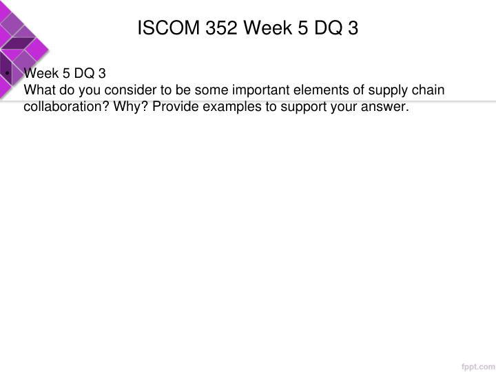 ISCOM 352 Week 5 DQ 3