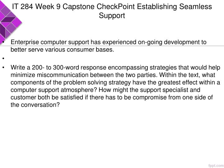 IT 284 Week 9 Capstone