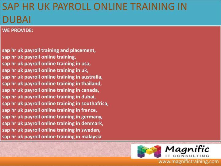 Payroll Training: Sap Payroll Training Uk