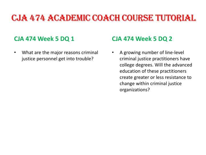 CJA 474 Academic