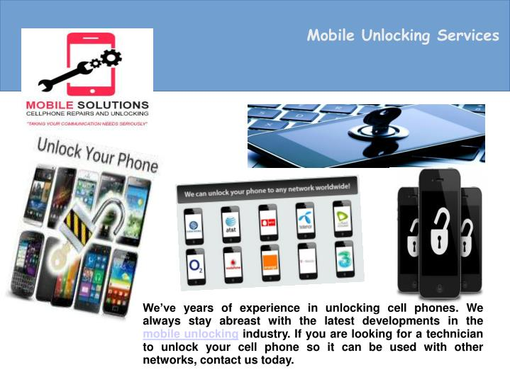 Mobile Unlocking Services