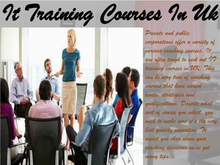 It Training Courses In