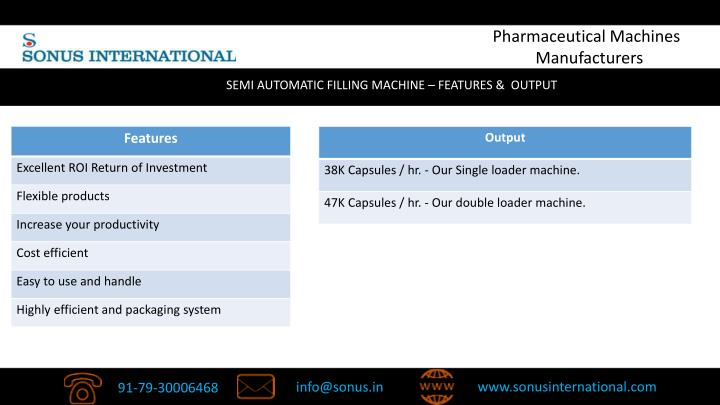 Pharmaceutical Machines