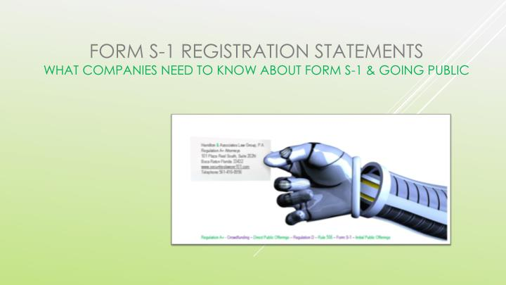 Form s 1 registration statements what companies need to know about form s 1 going public