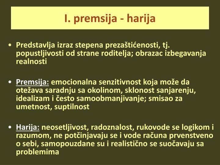 I. premsija - harija