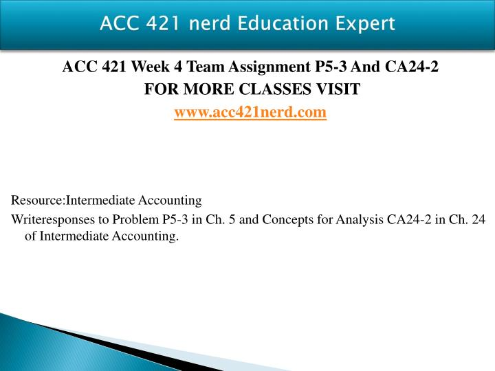 ACC 421 nerd Education Expert