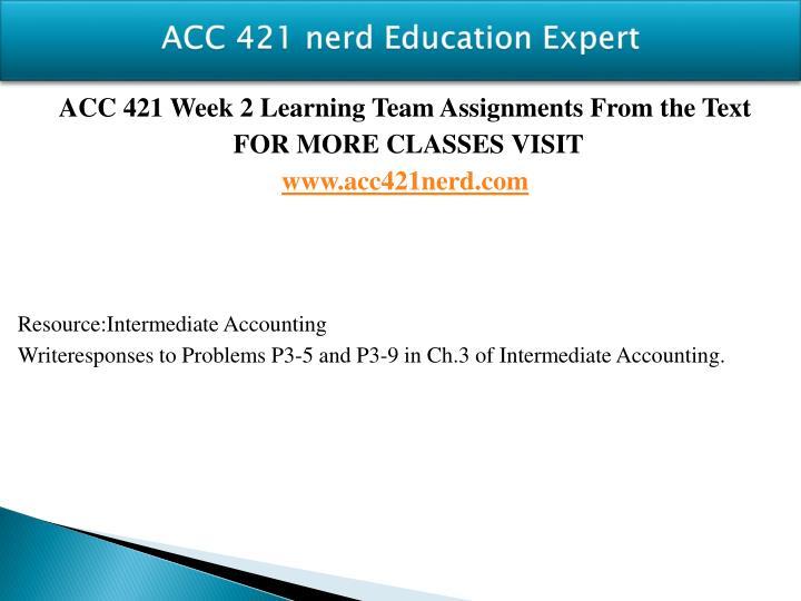 ACC 421 nerd Education Expert