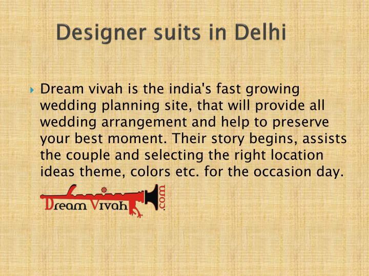 Designer suits in