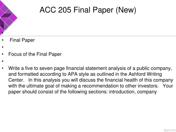 ACC 205 Final Paper (New)