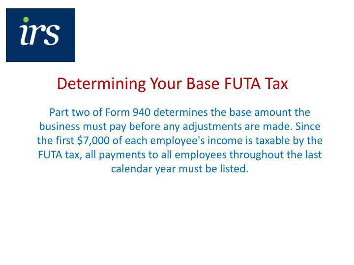 Determining Your Base FUTA Tax