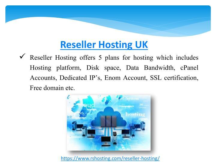 Reseller Hosting UK