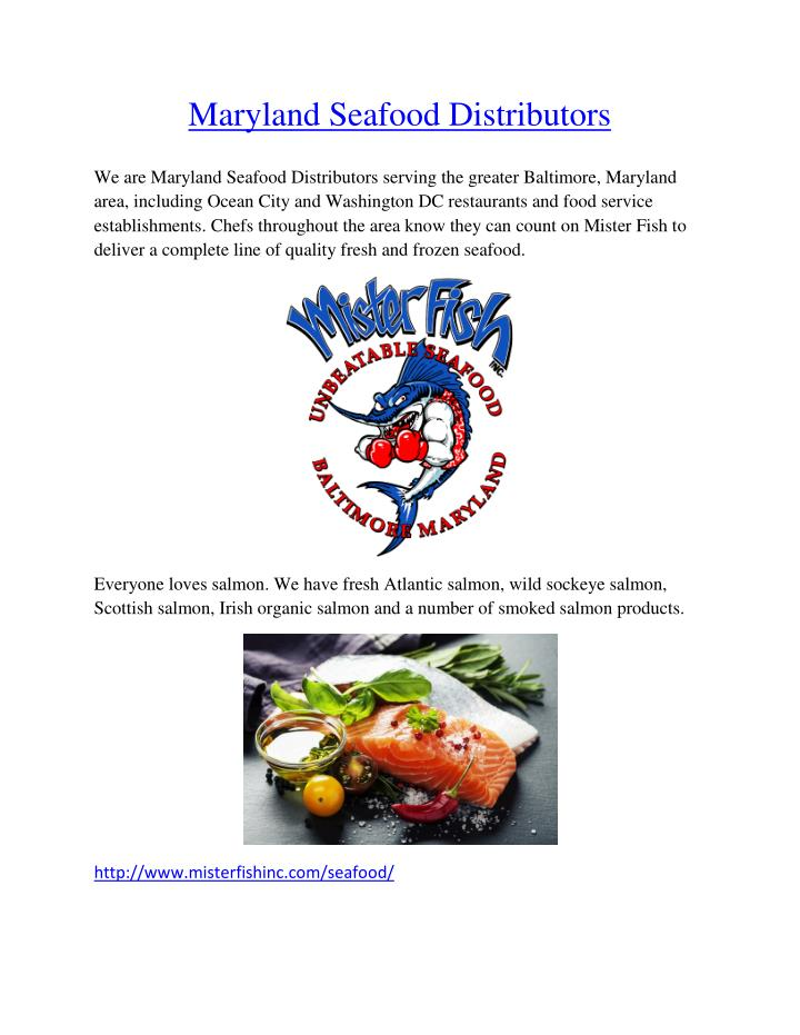Maryland Seafood Distributors