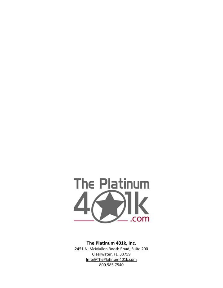 The Platinum 401k, Inc.