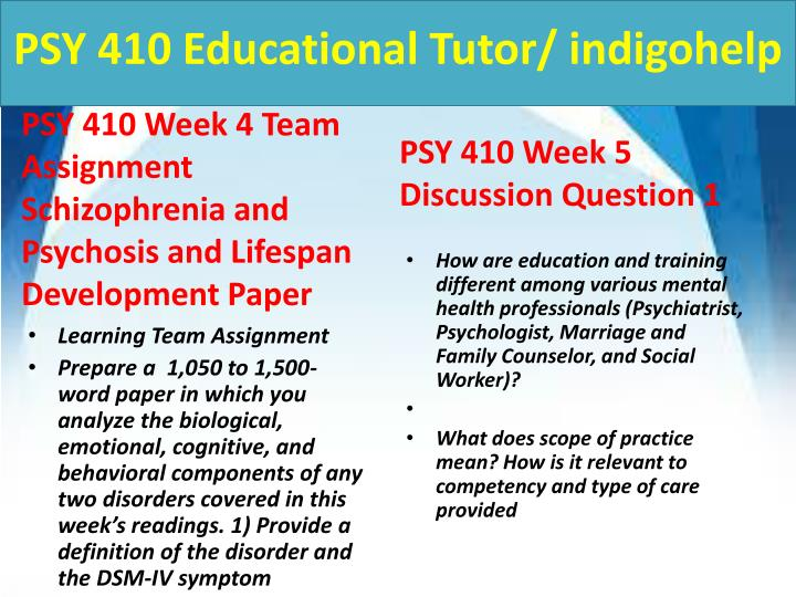 PSY 410