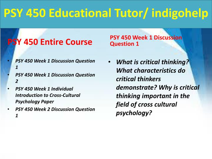Psy 450 educational tutor indigohelp1
