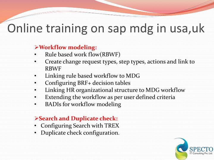 Online training on sap