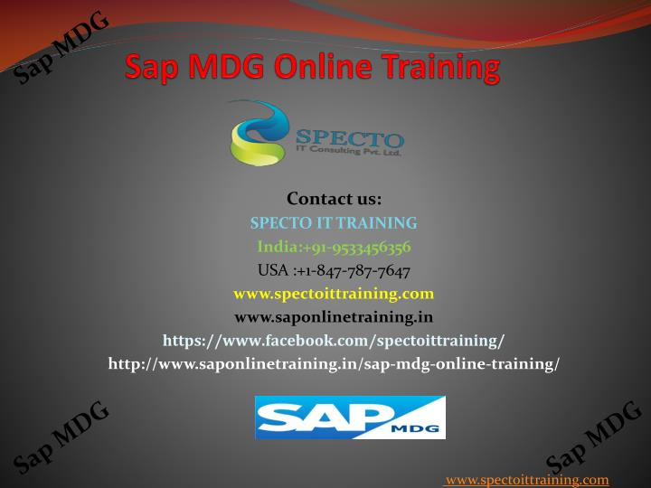 S ap mdg o nline training