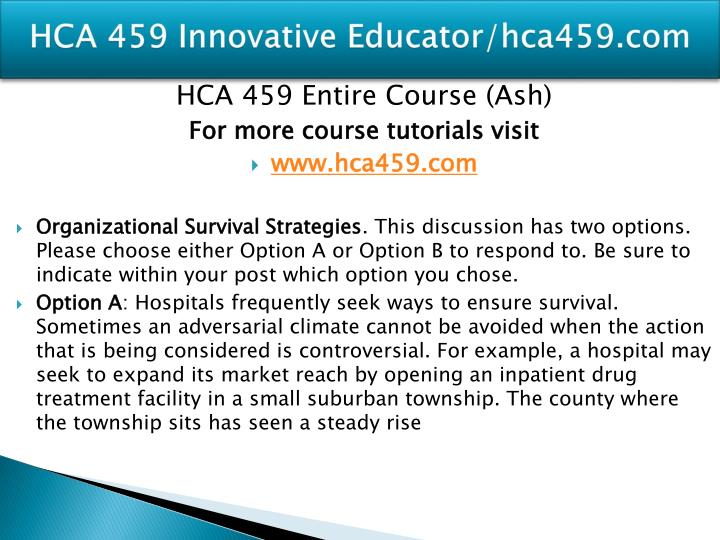 Hca 459 innovative educator hca459 com1