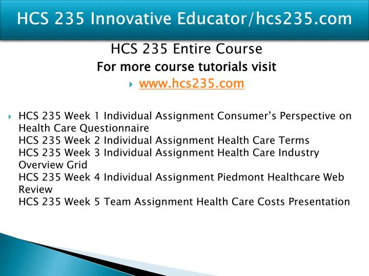 Hcs 235 innovative educator hcs235 com1