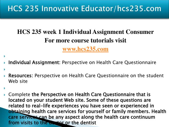 Hcs 235 innovative educator hcs235 com2