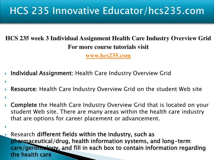 HCS 235 Innovative Educator/hcs235.com