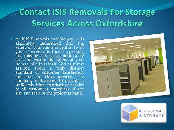 Contact isis removals for storage services across oxfordshire2