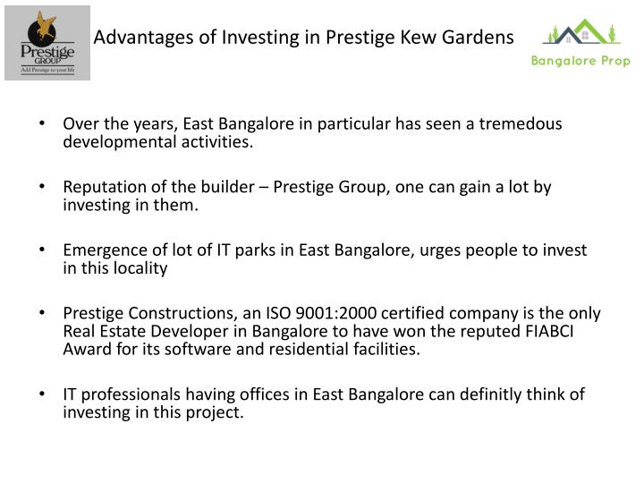 Advantages of Investing in Prestige Kew Gardens