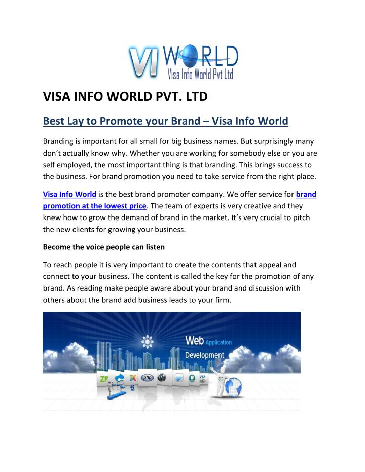 VISA INFO WORLD PVT. LTD