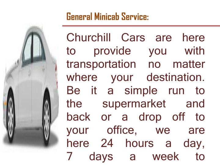 General Minicab Service: