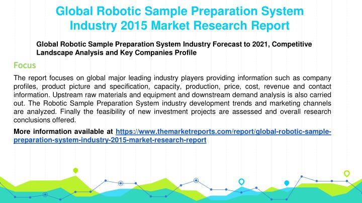 Global Robotic Sample Preparation System Industry 2015 Market Research Report
