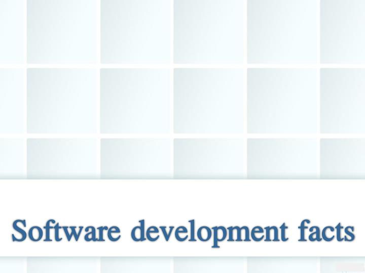 Software development facts