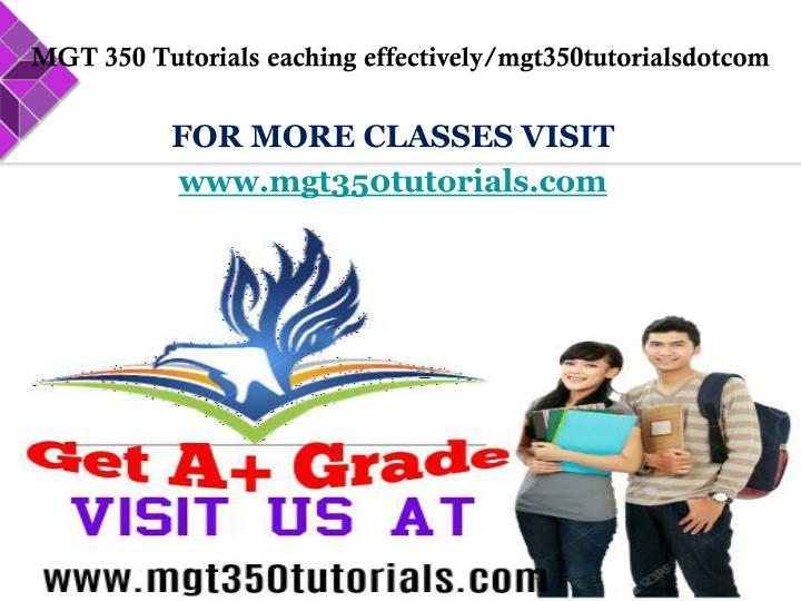 MGT 350 Tutorials
