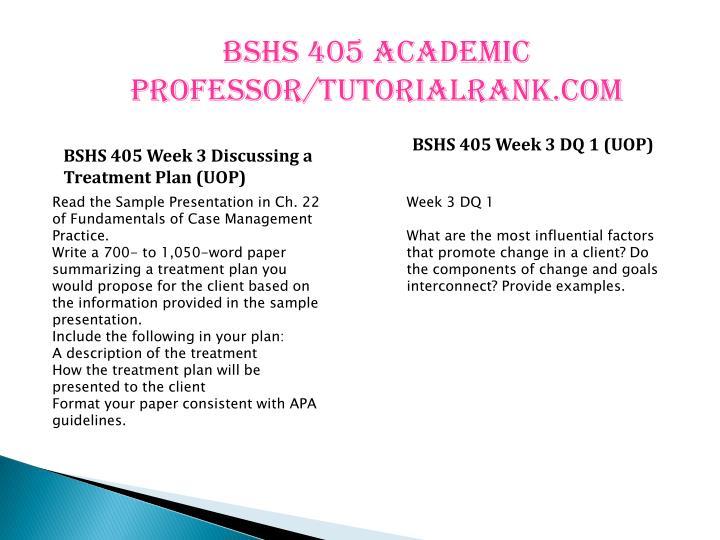 bshs 405 week 5 dq 1