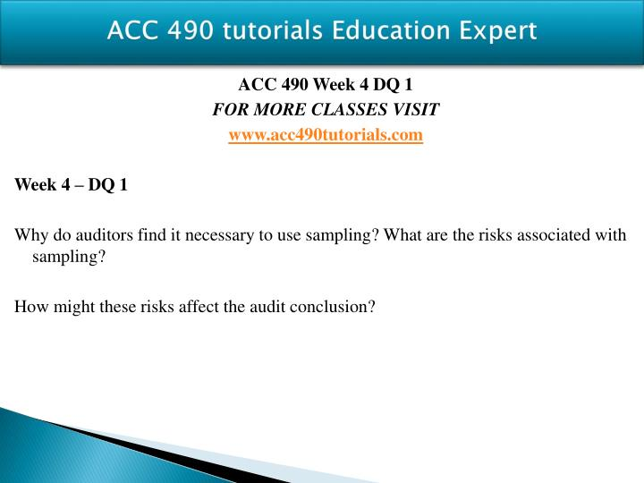 ACC 490 tutorials Education Expert