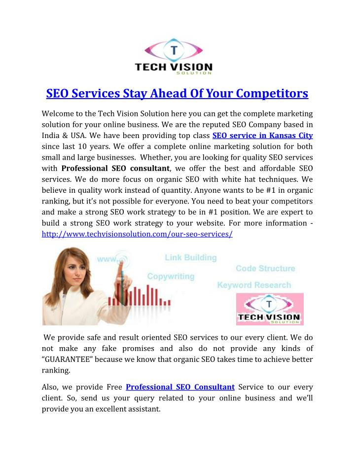 SEO Services Stay Ahead Of Your Competitors