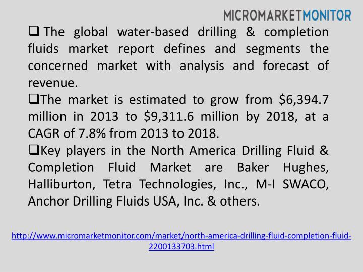 The global water-based drilling & completion fluids market report defines and segments the concerned...
