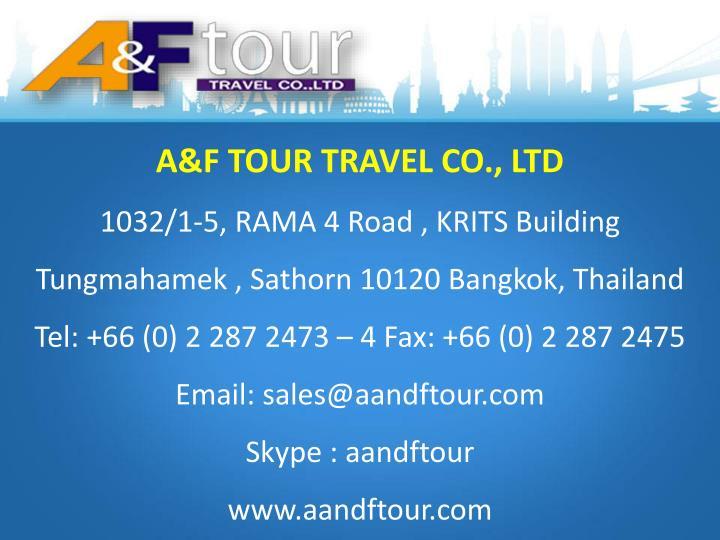 A&F TOUR TRAVEL CO., LTD