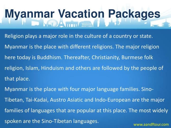 Myanmar Vacation Packages