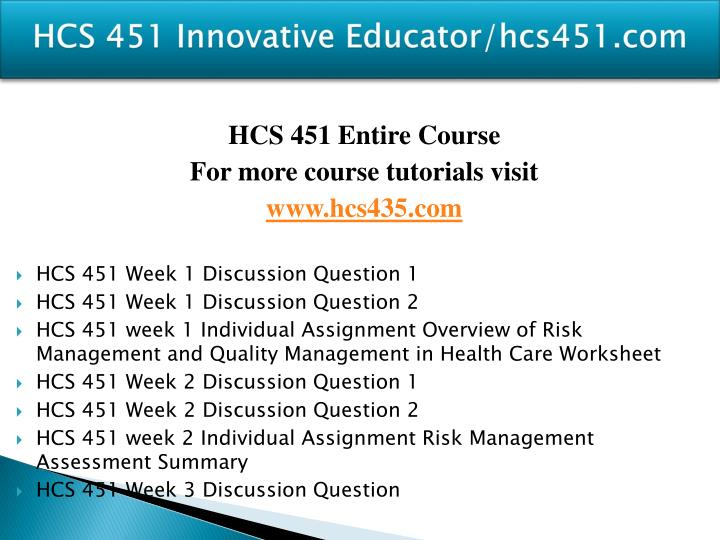 Hcs 451 innovative educator hcs451 com1
