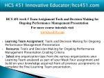 hcs 451 innovative educator hcs451 com16