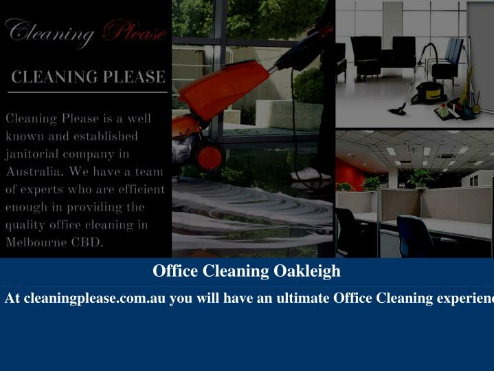 Office Cleaning Oakleigh