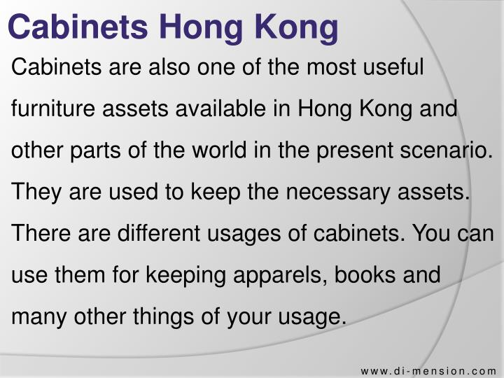 Cabinets Hong Kong