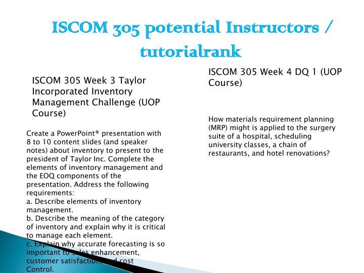 ISCOM 305