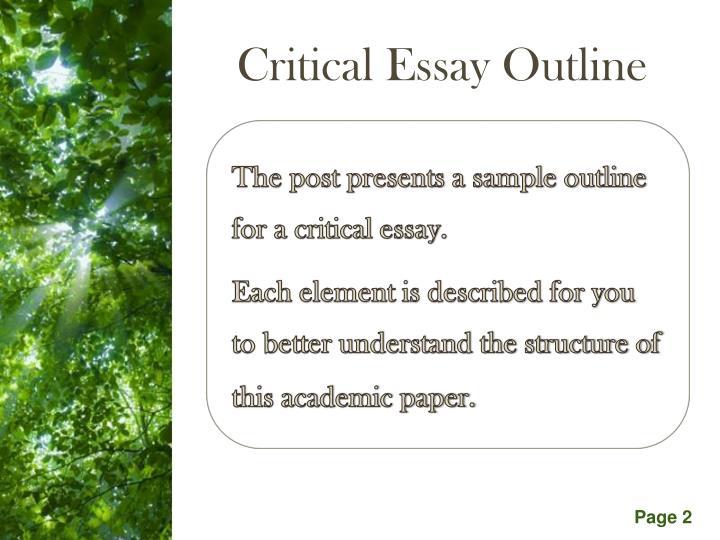 Critical Essay Outline