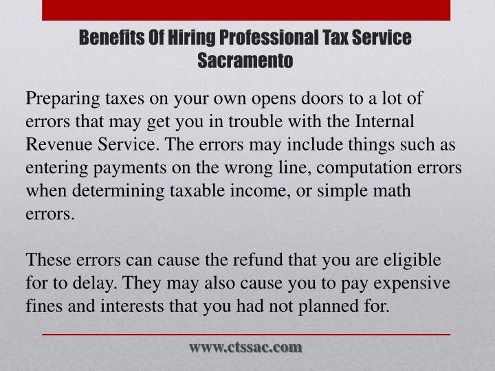 Preparing taxes on your own opens doors to a lot of errors that may get you in trouble with the Internal Revenue Service. The errors may include things such as entering payments on the wrong line, computation errors when determining taxable income, or simple math errors.